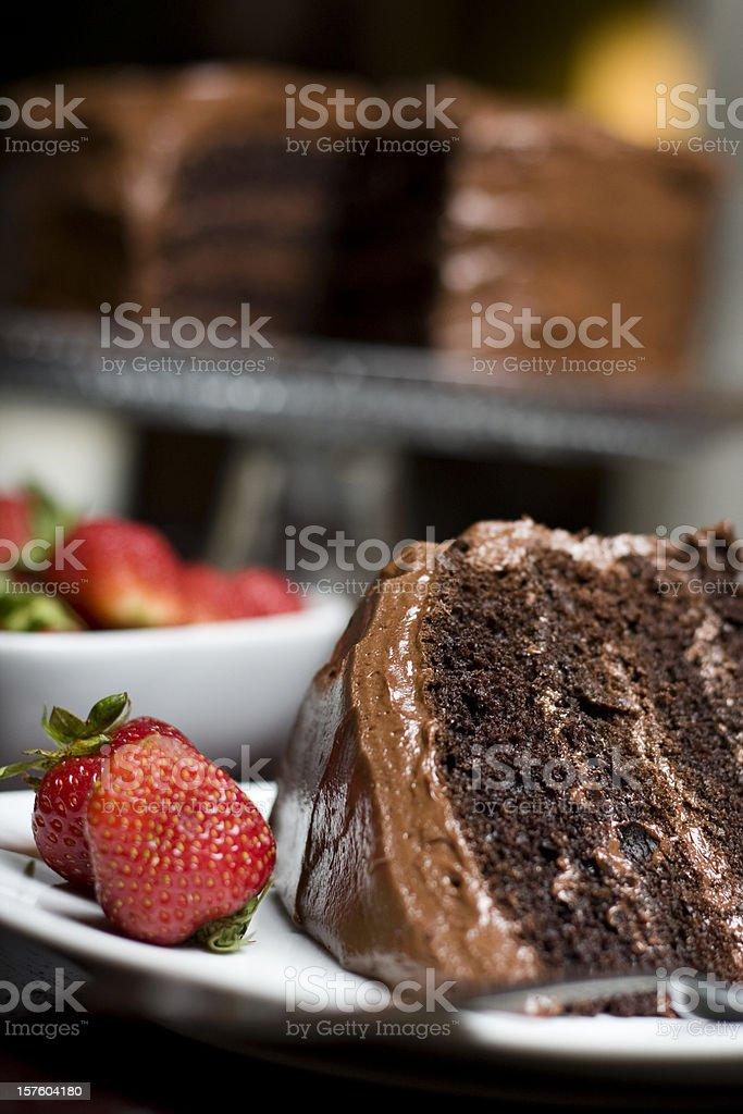 Chocolate Layer Cake stock photo