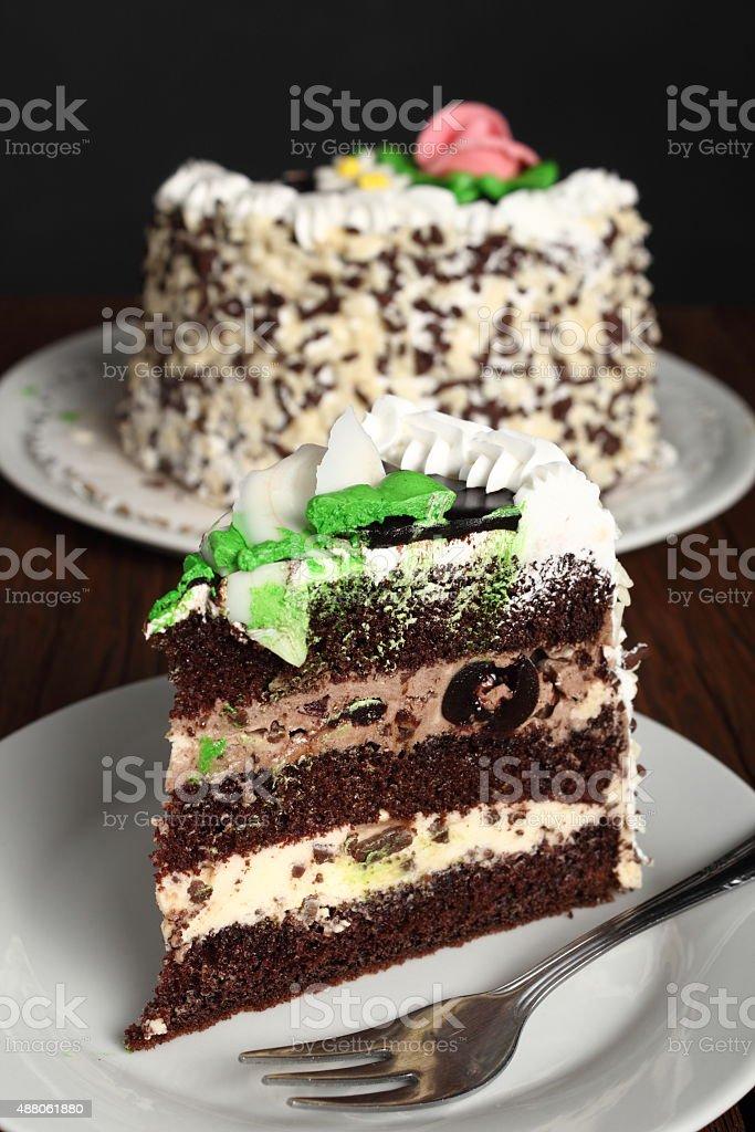Chocolate layer cake foto