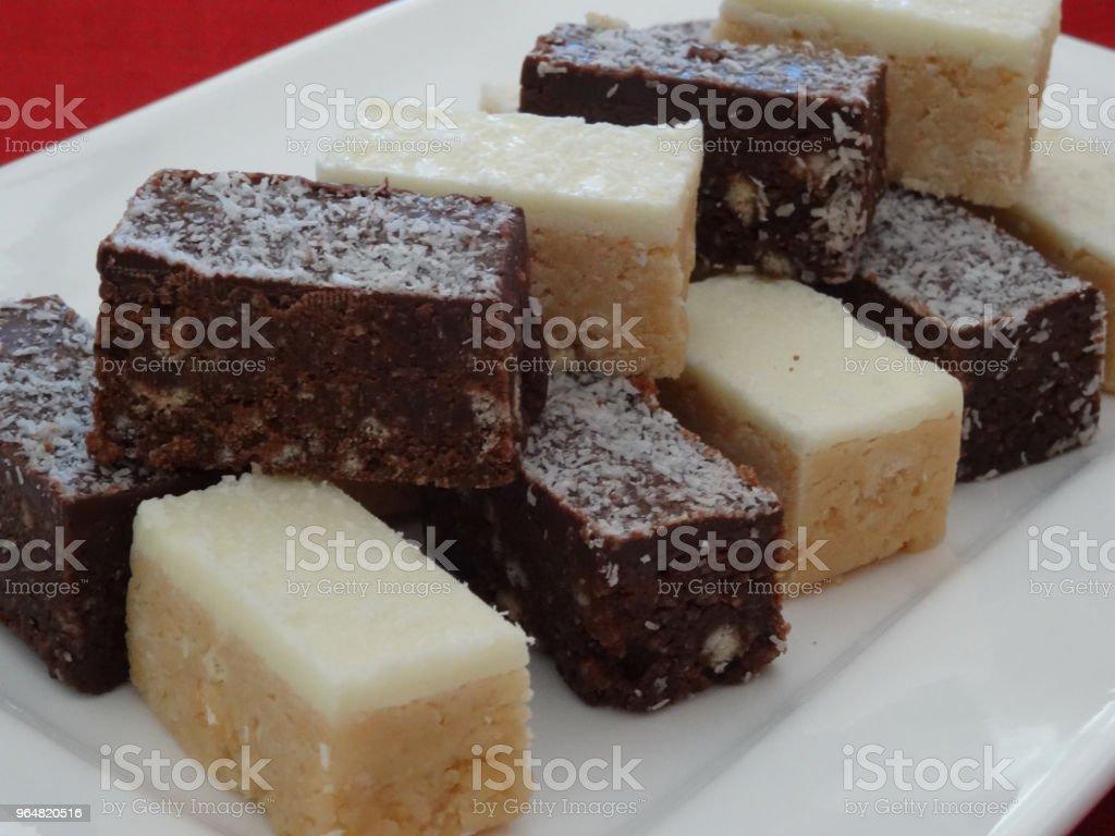 Chocolate & Lemon slice royalty-free stock photo
