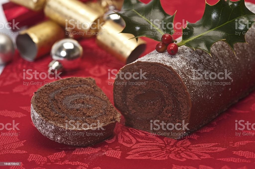 Chocolate Log stock photo