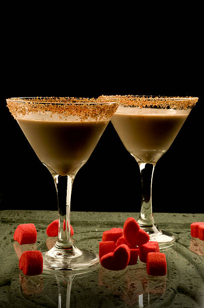 chocolate martini stock photo