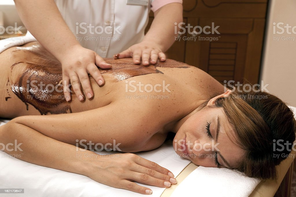 Chocolate massage royalty-free stock photo