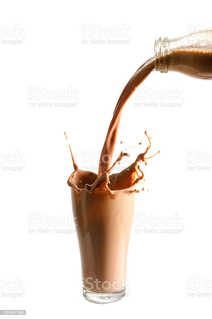 Chocolate milk stock photo