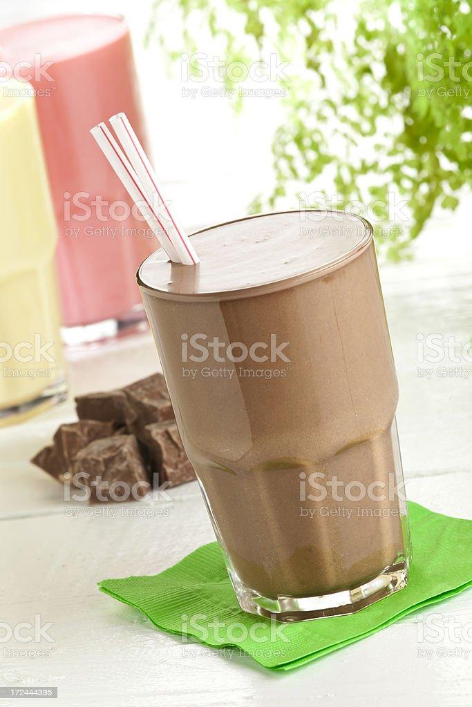 Chocolate Milk Shake Smoothie royalty-free stock photo