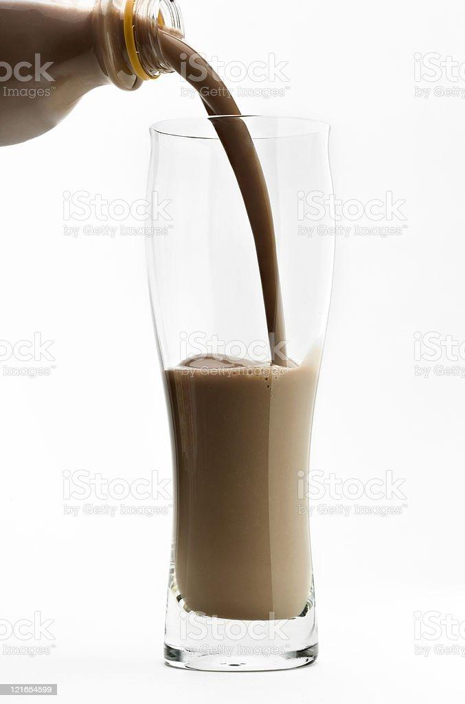 Chocolate Milkshake (or protein drink) royalty-free stock photo