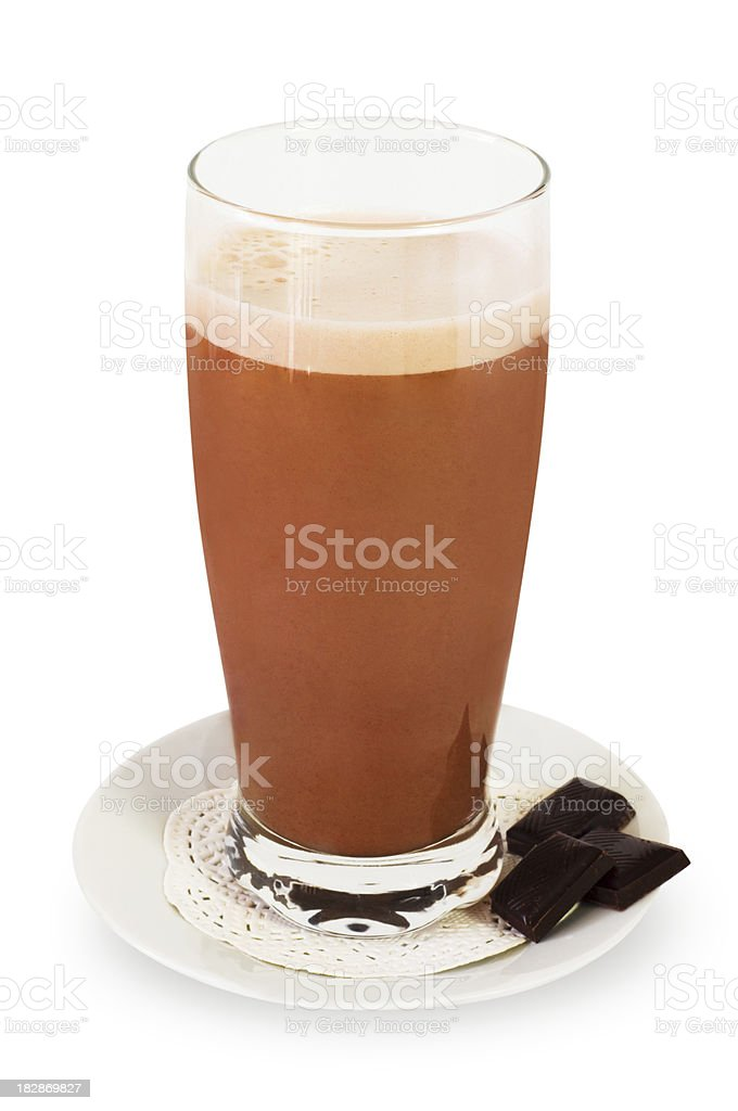 Chocolate milkshake royalty-free stock photo