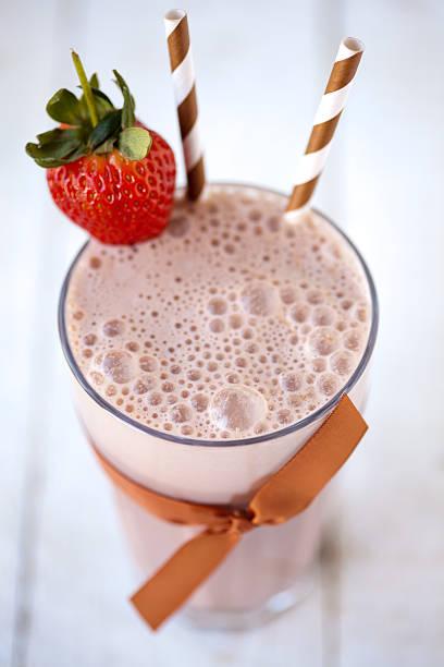 Chocolate milkshake stock photo