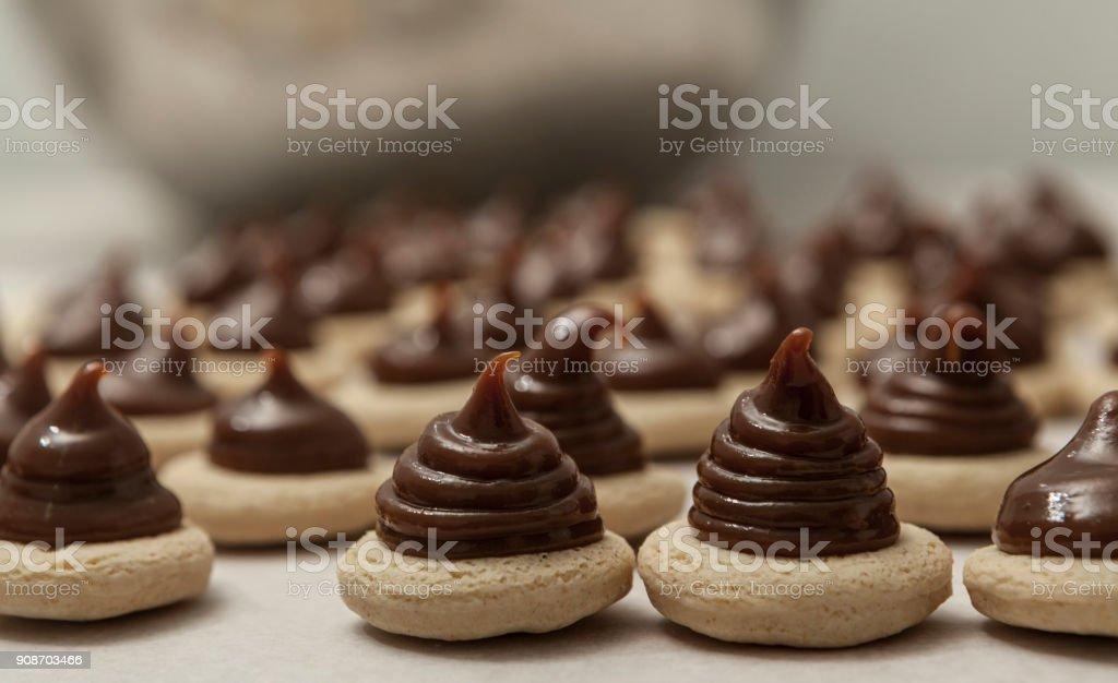 Chocolate Mini Cookies stock photo