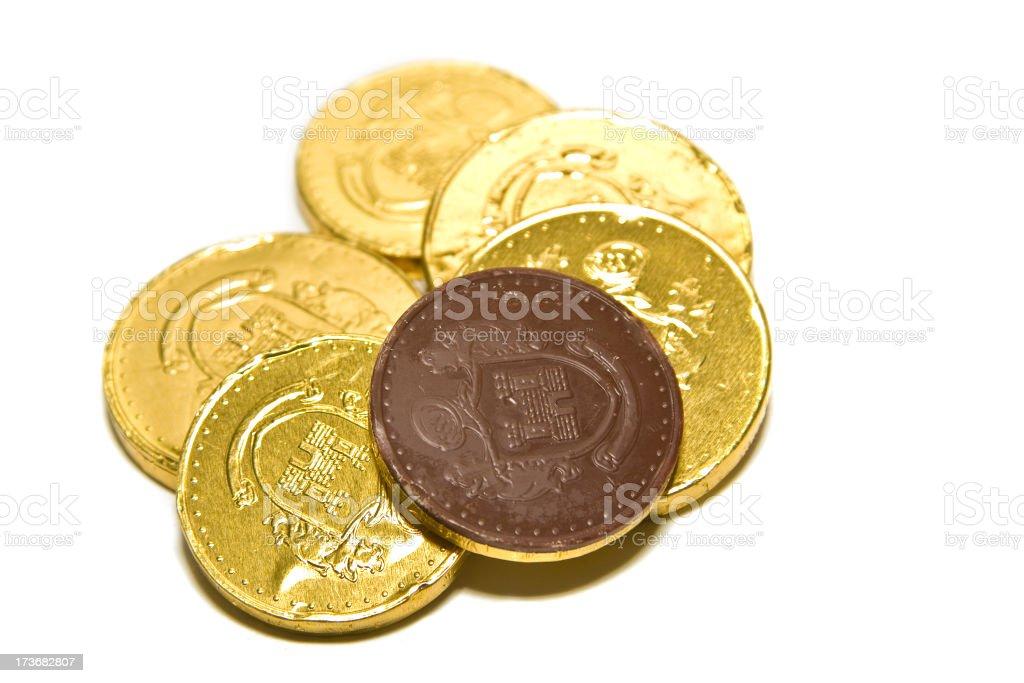 Chocolate Money royalty-free stock photo