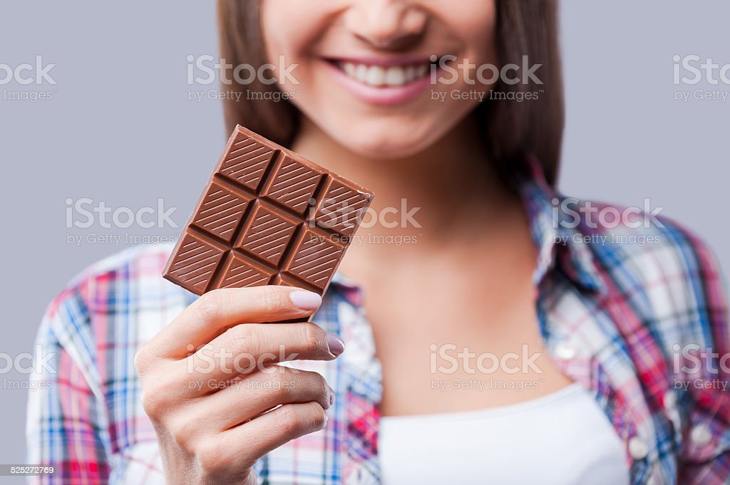 Chocolate mood. stock photo