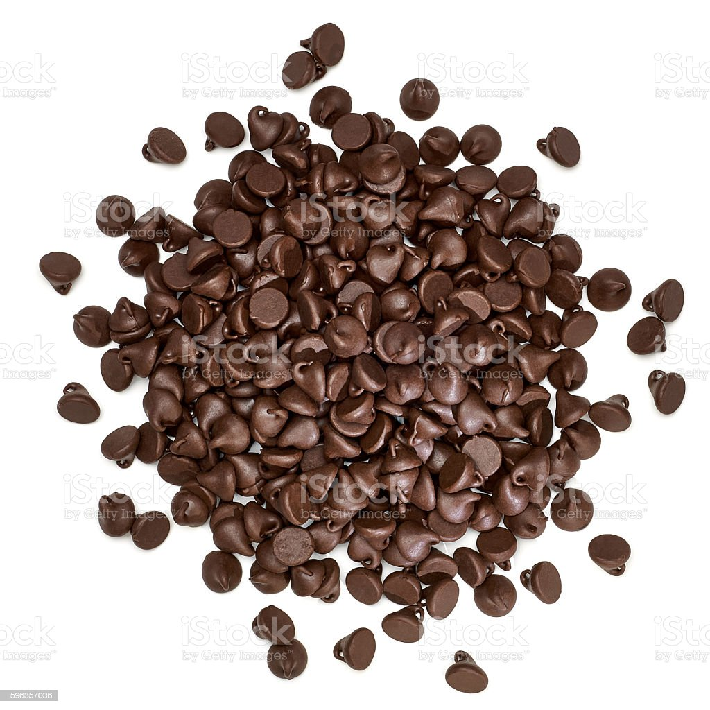 Chocolate morsels stock photo