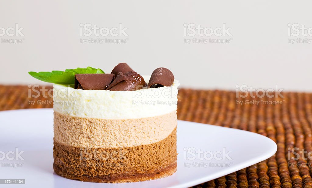 chocolate mousse dessert stock photo