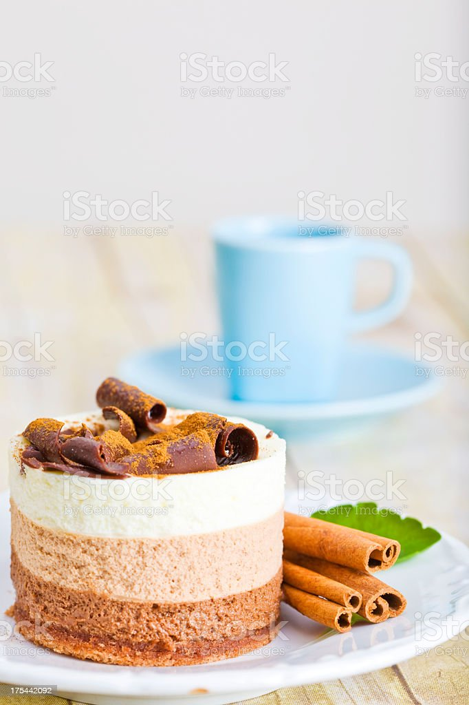 chocolate mousse dessert royalty-free stock photo
