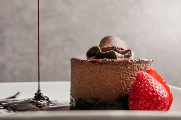 mousse de chocolate / concepto de postres (haga clic para más) - postre fotografías e imágenes de stock