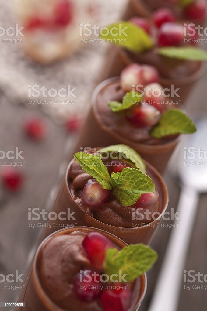 Chocolate mousse royalty-free stock photo