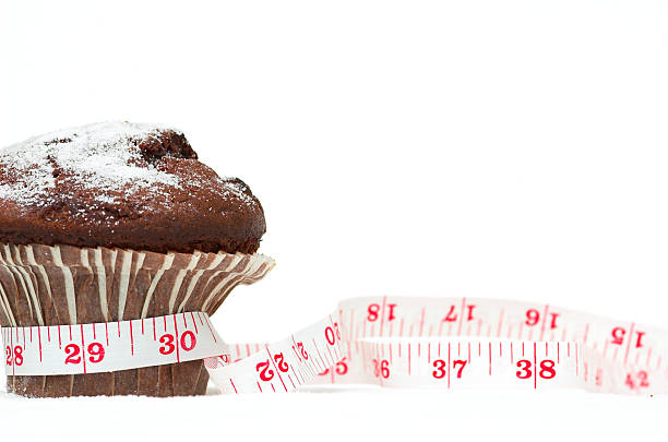 Chocolate Muffin Diet stock photo