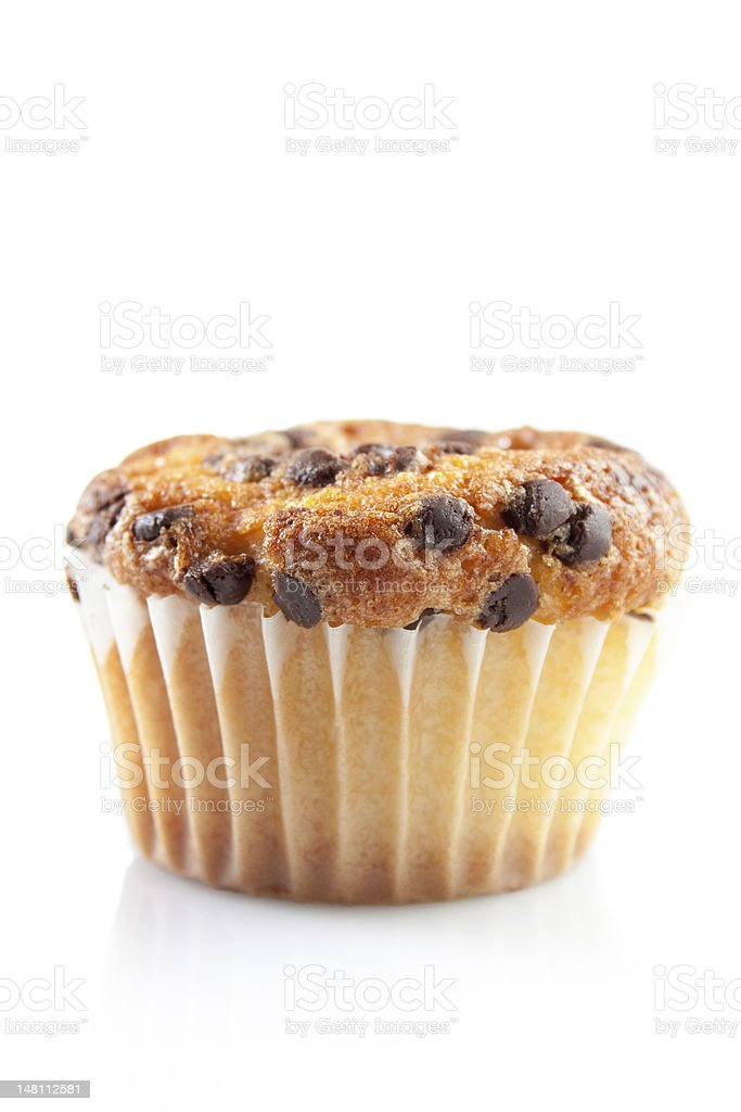 Chocolate muffin isolated on white royalty-free stock photo