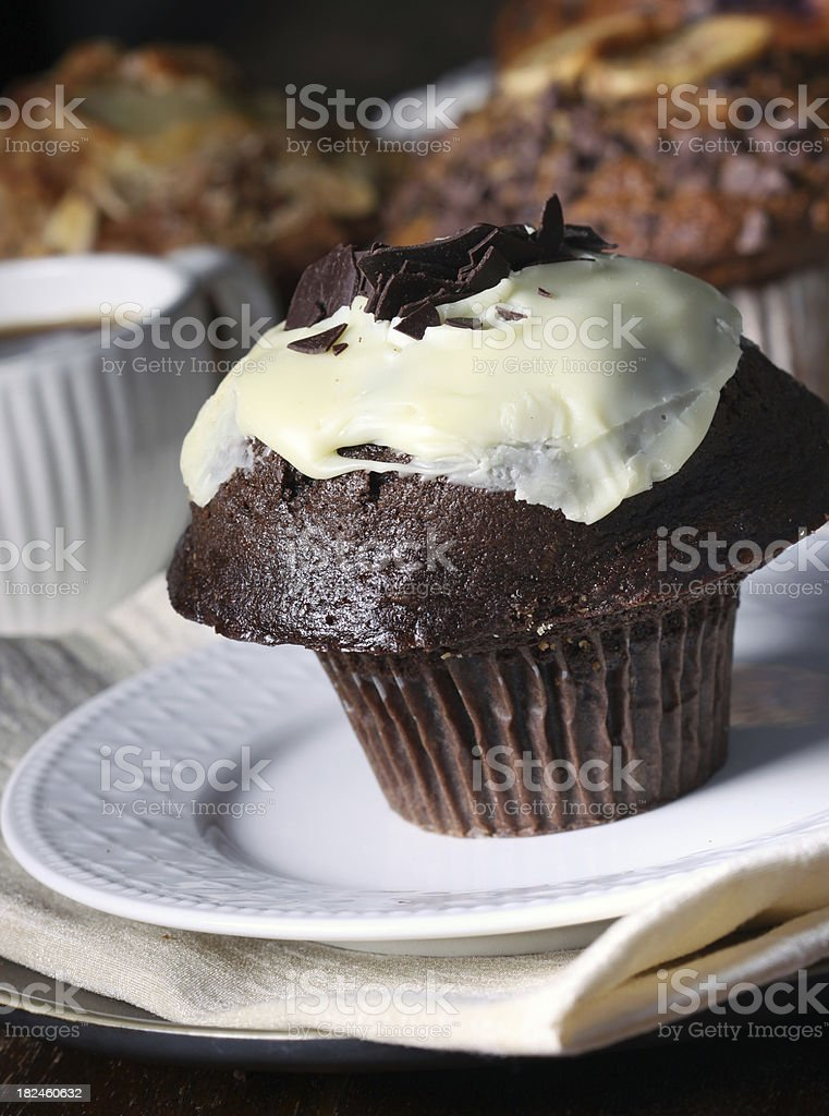 Chocolate muffin royalty-free stock photo