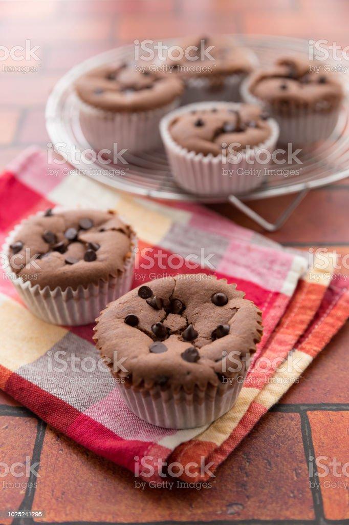 チョコレートマフィン  ストックフォト