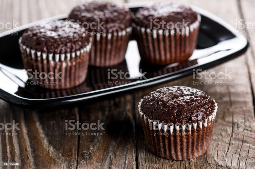 Schokoladen-muffins  – Foto