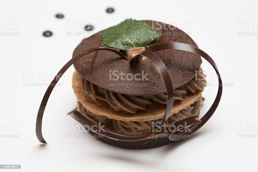 Chocolate Napoleon Dessert royalty-free stock photo
