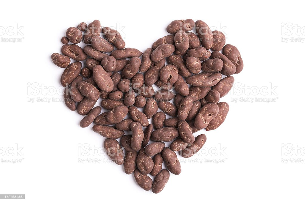 chocolate nuts/fruits heart royalty-free stock photo