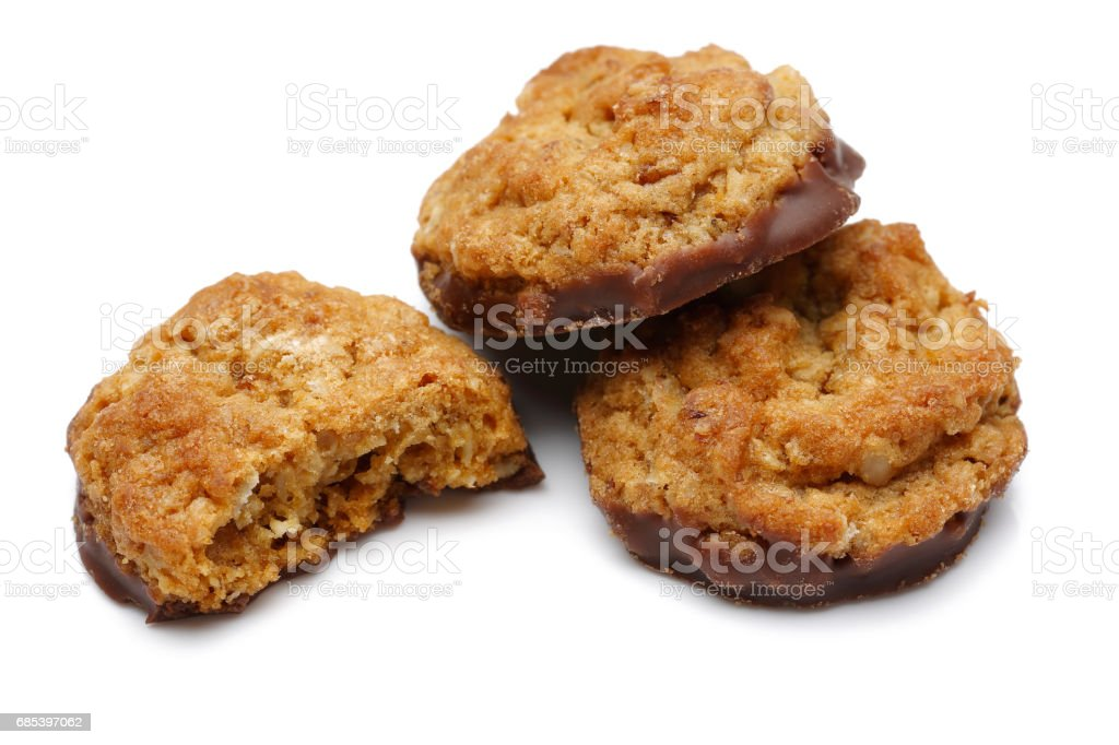 Chocolate Oatmeal Cookies foto de stock royalty-free