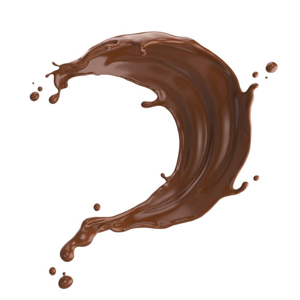 chocolate or cocoa splash. - cioccolata foto e immagini stock