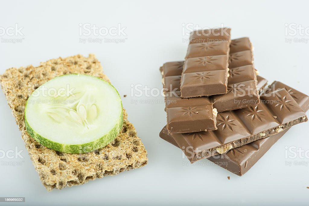 Chocolate or cracker royalty-free stock photo