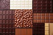 チョコレートのパターンの背景