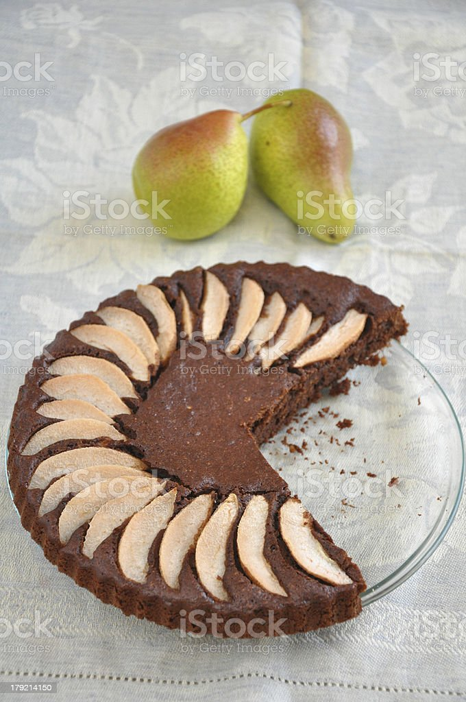 Chocolate Pear Cake royalty-free stock photo