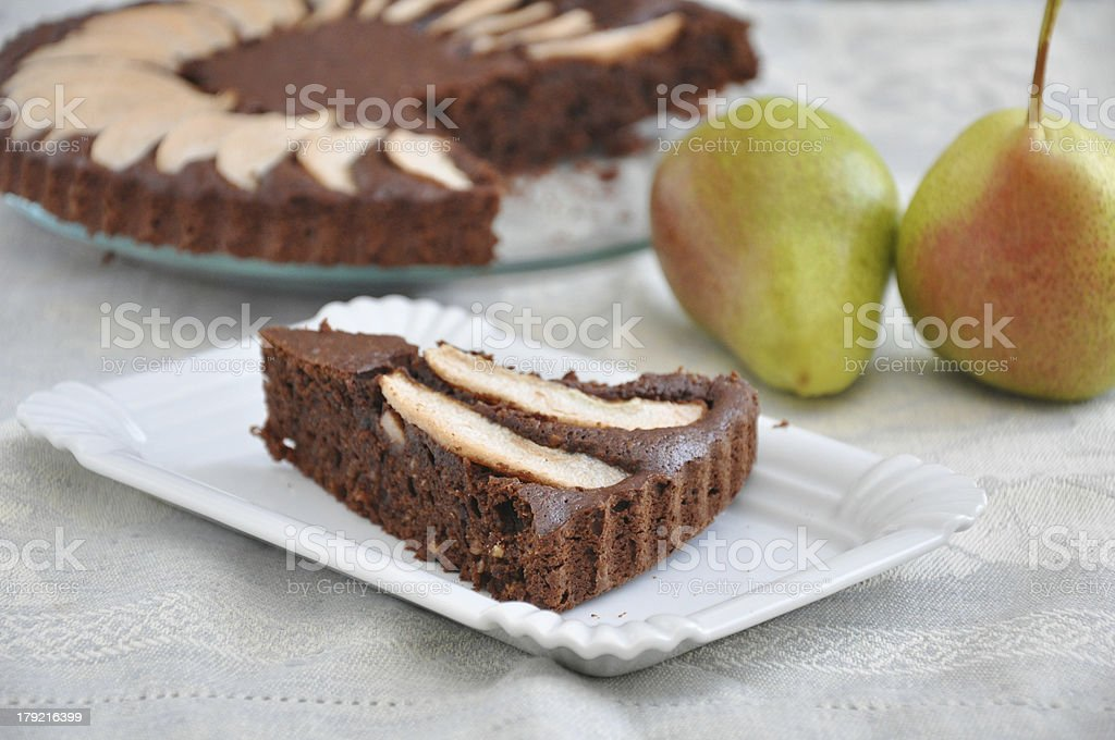 Chocolate Pear Cake royalty-free stock photo