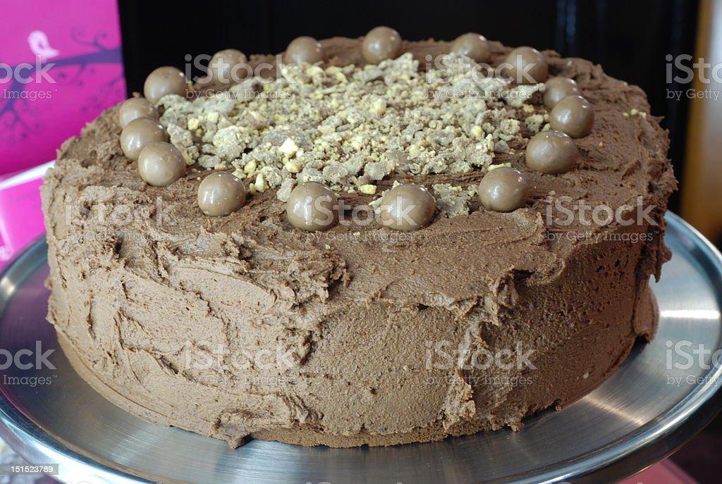chocolate chocolate cake Cafe Stock Photo