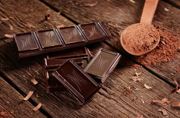 chocolade - pure chocola stockfoto's en -beelden