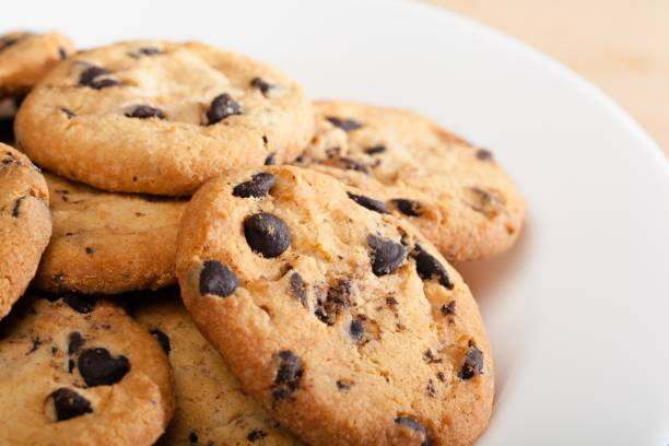 Chocolate. Chocolate chip cookies chocolate chip cookie stock pictures, royalty-free photos & images