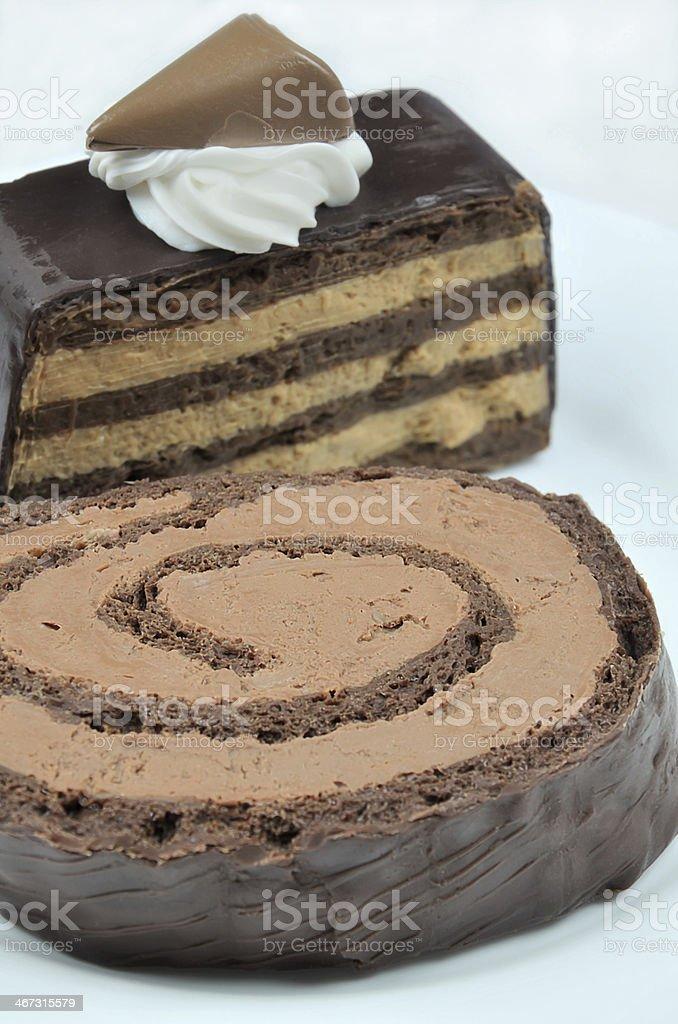 Chocolate Pie on Plate royalty-free stock photo