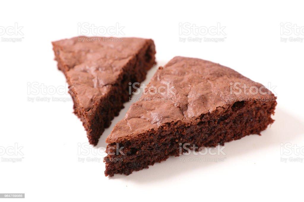 chocolate pie slice royalty-free stock photo