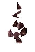istock Chocolate piece sweet food dessert falling 1137538074