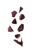 istock Chocolate piece sweet food dessert falling 1137543273