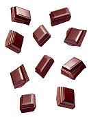 istock chocolate piece sweet food dessert falling 904856894