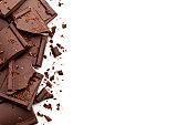 チョコレートの部分が白い背景をボーダーします。