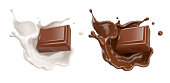 wave of Chocolate or Cocoa splash, Abstract background, 3D illustration.