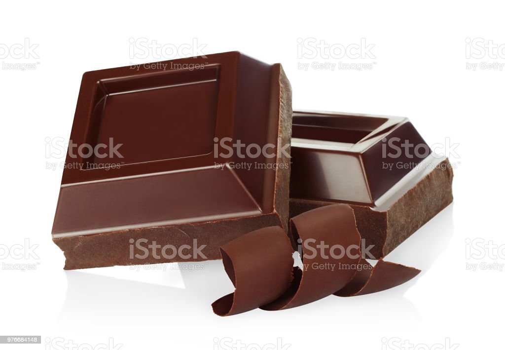 Schokoladenstücke mit Schokoraspeln – Foto