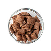 istock Chocolate Pillows for Breakfast, Choco Cereal Pads, Corn Flakes 1272242187