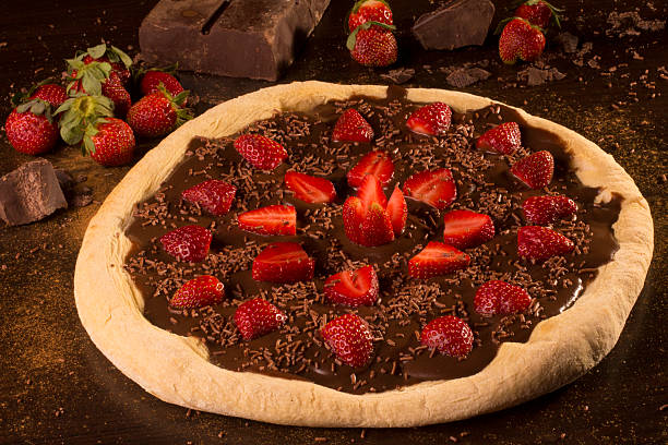 Chocolate Pizza stock photo