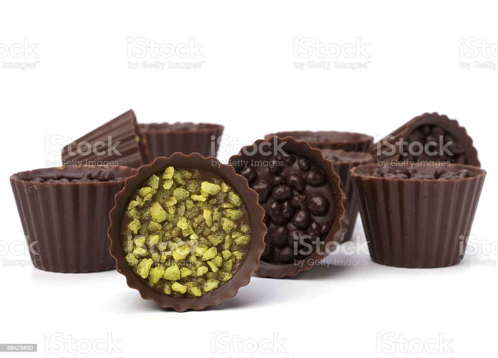 Praline al cioccolato foto stock royalty-free