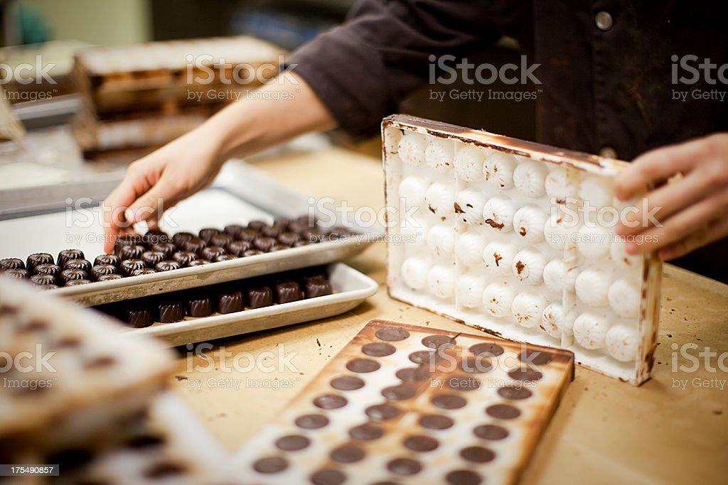 Chocolate Production royalty-free stock photo