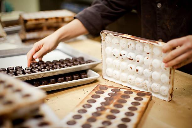 Chocolate Production stock photo