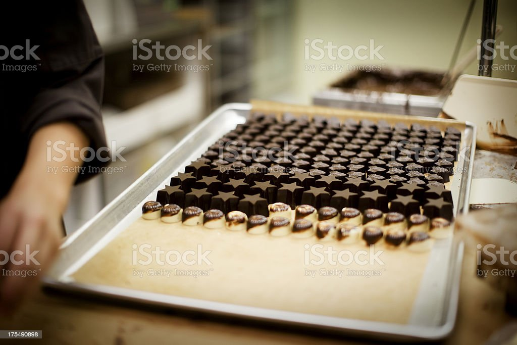Chocolate Production stock photo