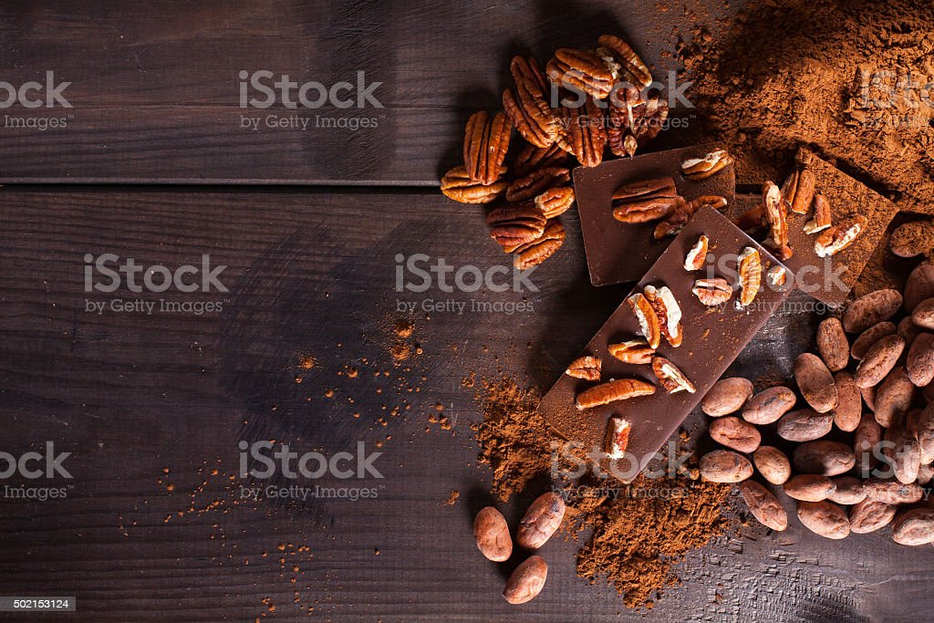 Chocolate products. stock photo